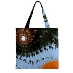 Sun-Ray Swirl Pattern Grocery Tote Bag