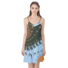 Sun-Ray Swirl Pattern Camis Nightgown