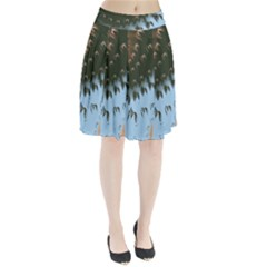 Sun-Ray Swirl Pattern Pleated Skirt