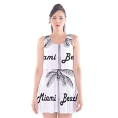 Miami Beach Scoop Neck Skater Dress