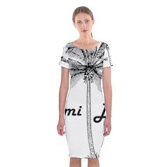 Miami Beach Classic Short Sleeve Midi Dress