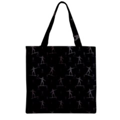 Surfing Motif Pattern Grocery Tote Bag