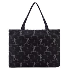 Surfing Motif Pattern Medium Zipper Tote Bag