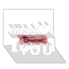 Ebola Miss You 3D Greeting Card (7x5)