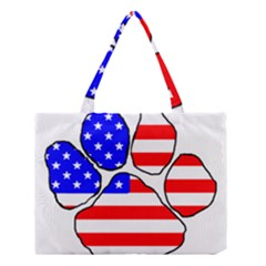 Usa Flag Paw Medium Tote Bag