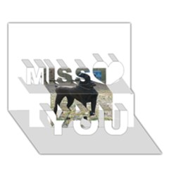 Cane Corso Full Miss You 3D Greeting Card (7x5)