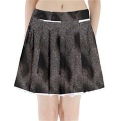 Black German Shepherd Eyes Pleated Mini Skirt