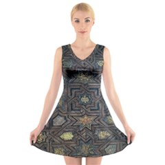 Granada Alhambra Generalife Rural V-Neck Sleeveless Skater Dress
