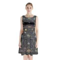 Granada Alhambra Generalife Rural Sleeveless Chiffon Waist Tie Dress