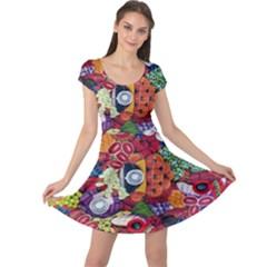 Guatemala Art Painting Naive Cap Sleeve Dresses