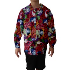 Guatemala Art Painting Naive Hooded Wind Breaker (Kids)