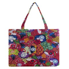 Guatemala Art Painting Naive Medium Zipper Tote Bag