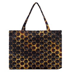 Hexagon Honeycomb Grid Pattern Medium Zipper Tote Bag