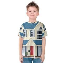 House Residence Blue Kids  Cotton Tee