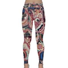 Indonesia Bali Batik Fabric Yoga Leggings