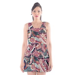 Indonesia Bali Batik Fabric Scoop Neck Skater Dress