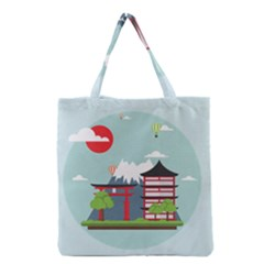 Japan Landmark Landscape View Grocery Tote Bag