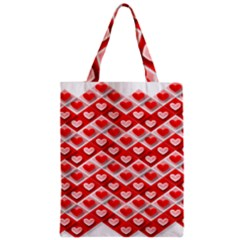 Love Hearts Valentine S Day Pink Zipper Classic Tote Bag