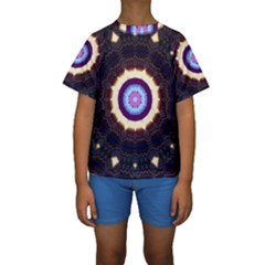 Mandala Kids  Short Sleeve Swimwear