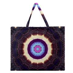 Mandala Zipper Large Tote Bag