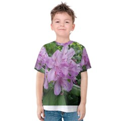 Purple Rhododendron Flower Kids  Cotton Tee