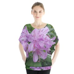 Purple Rhododendron Flower Blouse