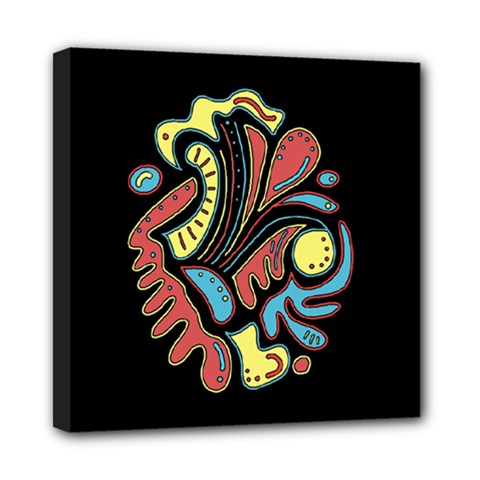Colorful abstract spot Mini Canvas 8  x 8