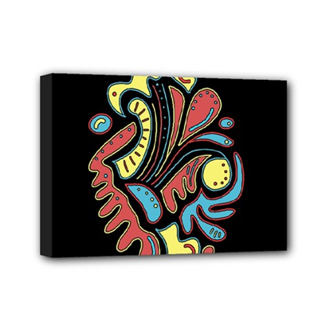 Colorful abstract spot Mini Canvas 7  x 5