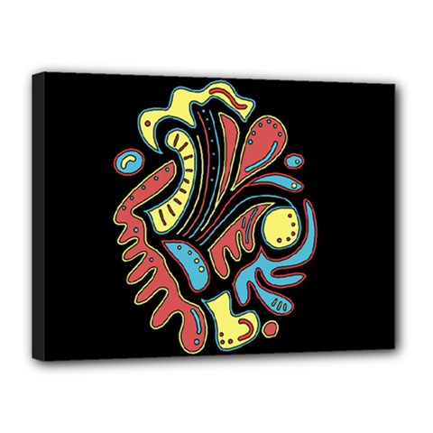 Colorful abstract spot Canvas 16  x 12