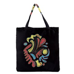 Colorful abstract spot Grocery Tote Bag