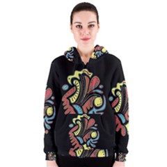 Colorful abstract spot Women s Zipper Hoodie