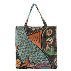 Fish Mosaic  Grocery Tote Bag