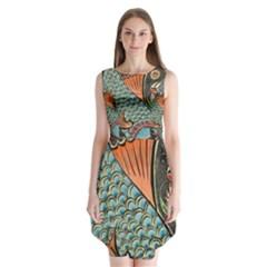 Fish Mosaic  Sleeveless Chiffon Dress