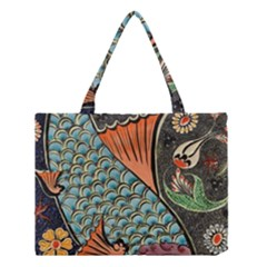 Fish Mosaic  Medium Tote Bag