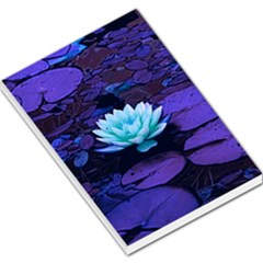 Lotus Flower Magical Colors Purple Blue Turquoise Large Memo Pads