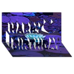 Lotus Flower Magical Colors Purple Blue Turquoise Happy Birthday 3d Greeting Card (8x4)