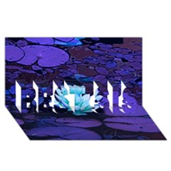 Lotus Flower Magical Colors Purple Blue Turquoise Best Sis 3d Greeting Card (8x4)