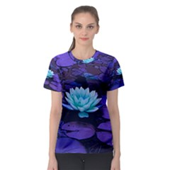 Lotus Flower Magical Colors Purple Blue Turquoise Women s Sport Mesh Tee