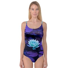 Lotus Flower Magical Colors Purple Blue Turquoise Camisole Leotard
