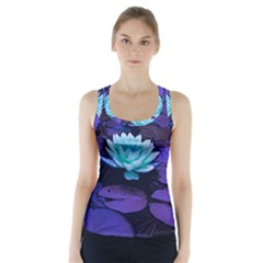 Lotus Flower Magical Colors Purple Blue Turquoise Racer Back Sports Top