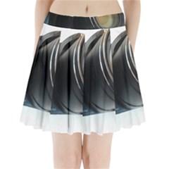 My Camera Pleated Mini Skirt