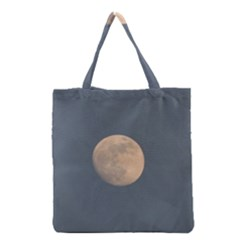 The Moon and blue sky Grocery Tote Bag