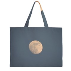 The Moon and blue sky Large Tote Bag