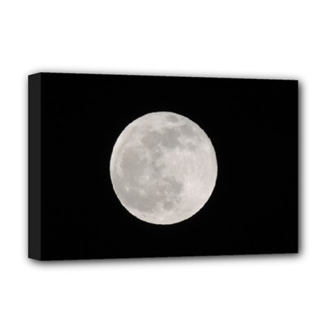 Full Moon at night Deluxe Canvas 18  x 12