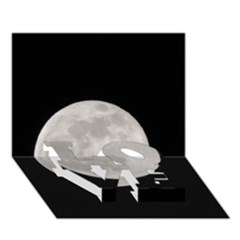 Full Moon At Night Love Bottom 3d Greeting Card (7x5)
