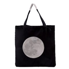 Full Moon at night Grocery Tote Bag