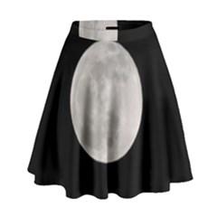 Full Moon At Night High Waist Skirt