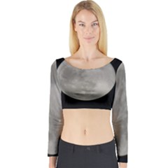 Close to the full Moon Long Sleeve Crop Top