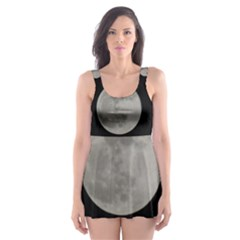 Close to the full Moon Skater Dress Swimsuit