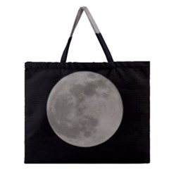 Close To The Full Moon Zipper Large Tote Bag